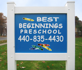 Best Beginnings Welcome Sign